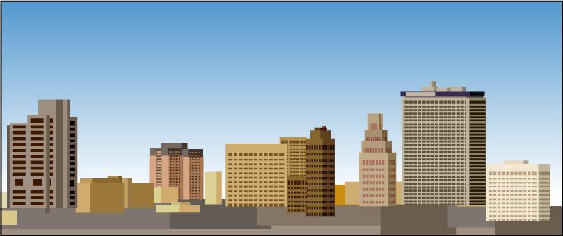Ilustración gratis - Edificios rascacielos