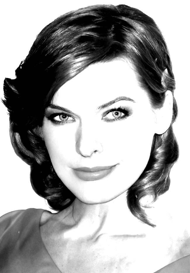 Fotografía del rostro de Milla Jovovich