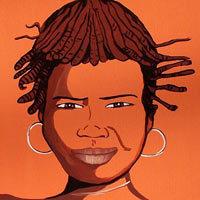 Ilustración de mujer de raza negra