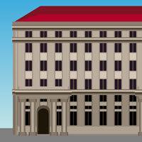 Dibujo de un Gran edificio de congresos