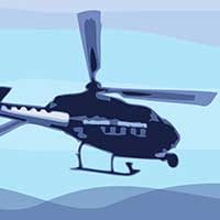 Helicóptero volando