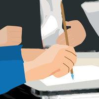 Abogados escribiendo y firmando documentos