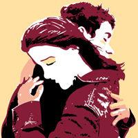 Abrazar – abrazo de una pareja