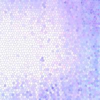 Vidriera de colores violetas y blancos