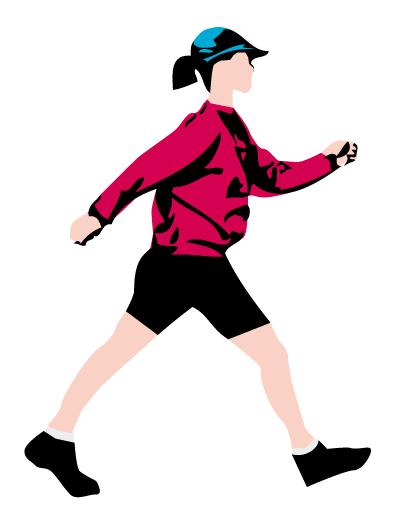 Ilustración gratis - Mujer caminando