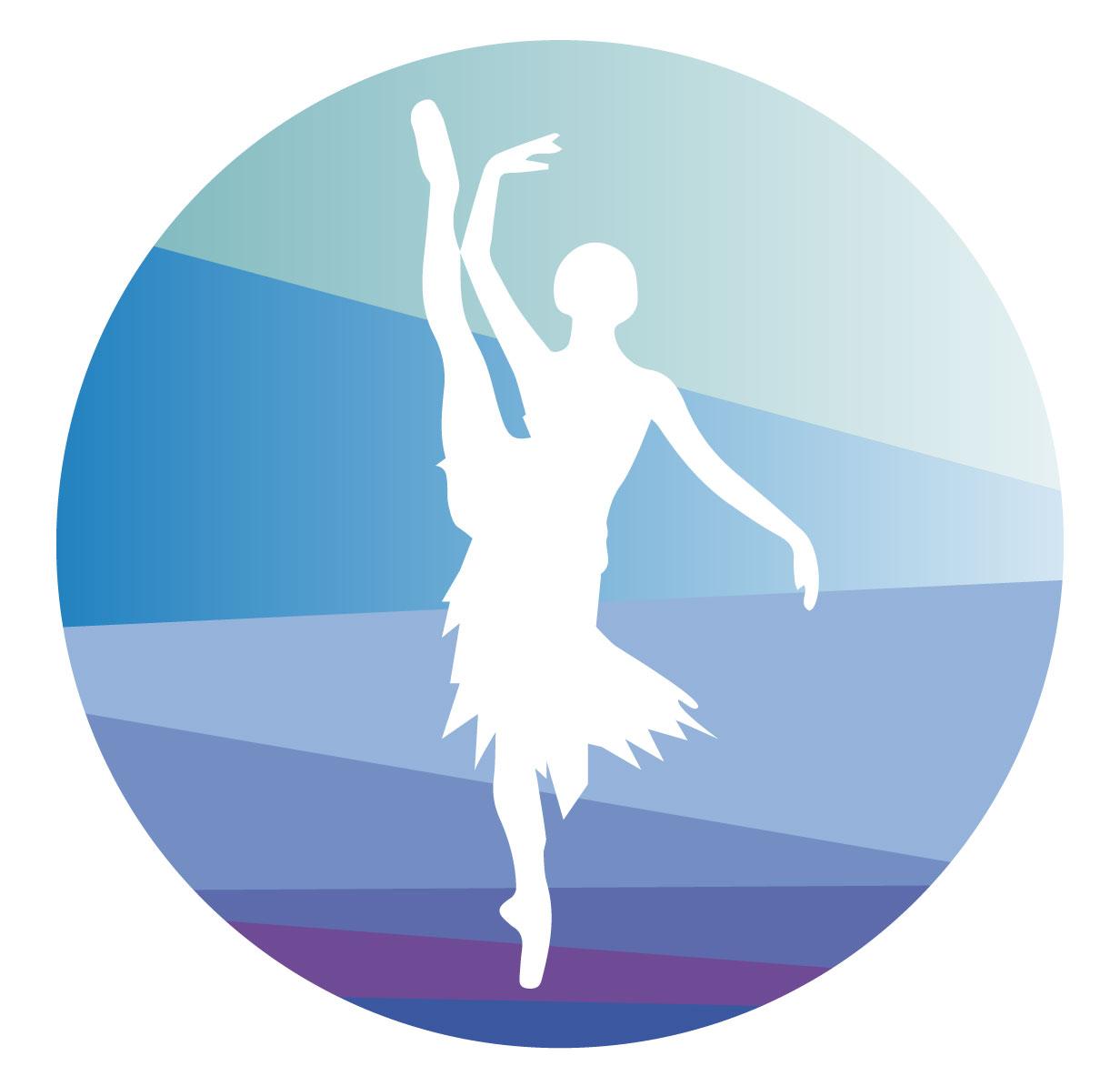 Ilustración gratis - Bailarina con pierna levantada