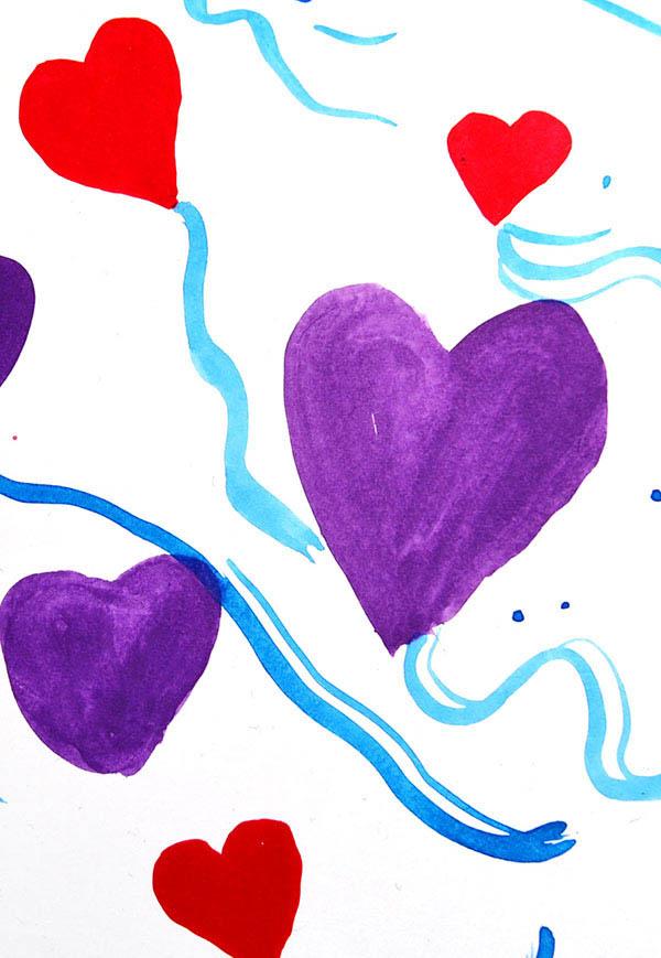 Ilustración gratis - Expresión libertad  - Corazón Violeta