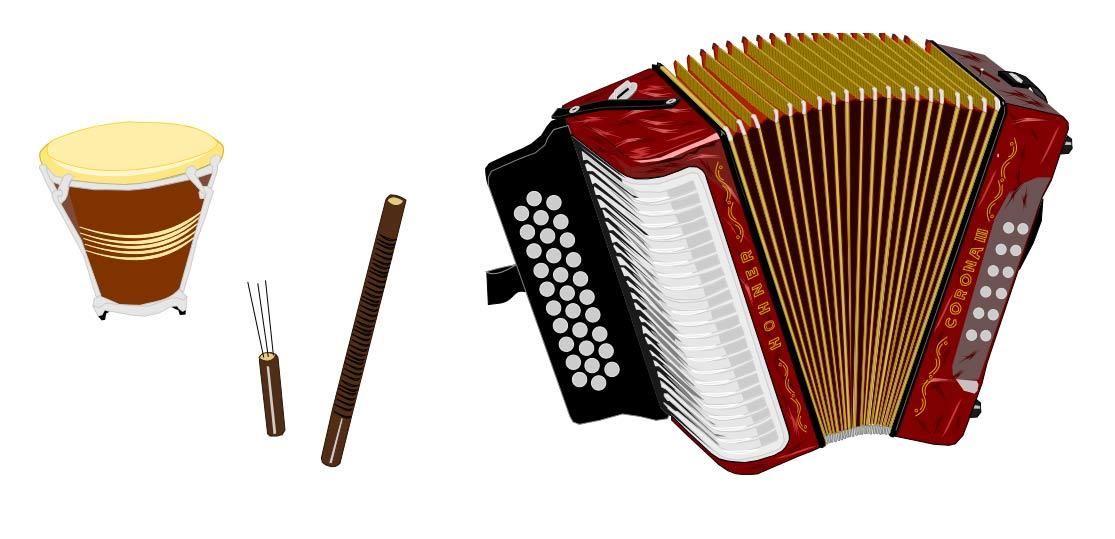 Instrumentos musicales - Ilustración SVG