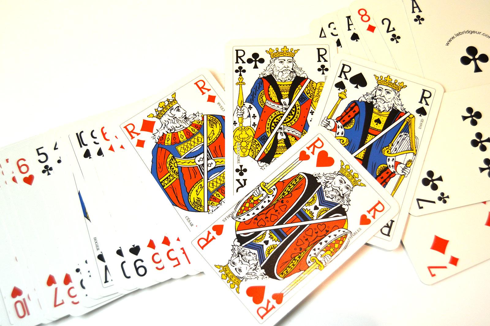 Ilustración gratis - Cartas Baraja inglesa - Reyes del poker