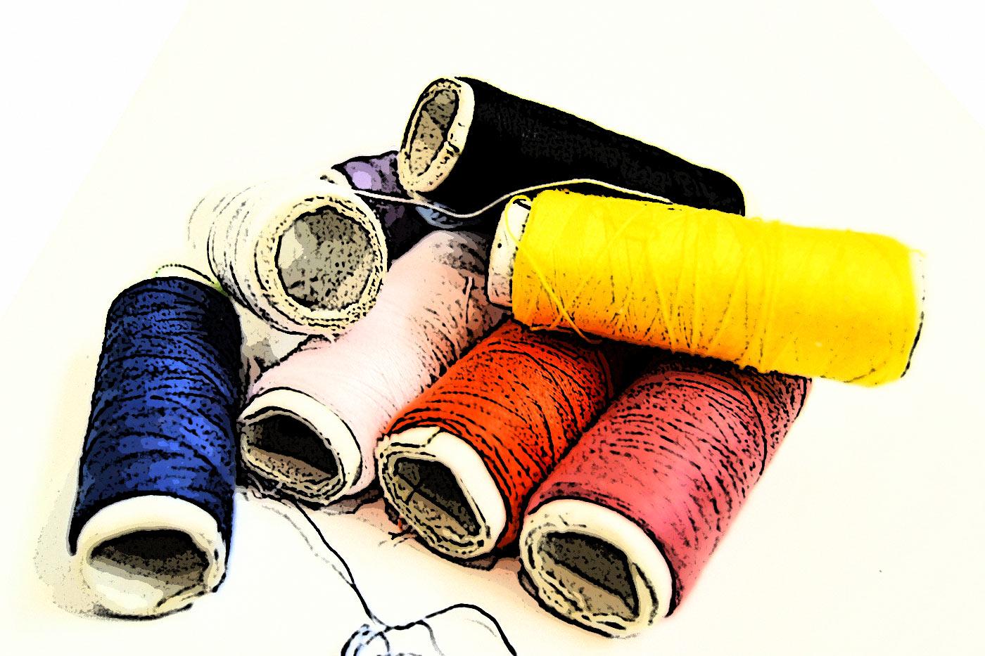 Ilustración gratis - Hilos de colores