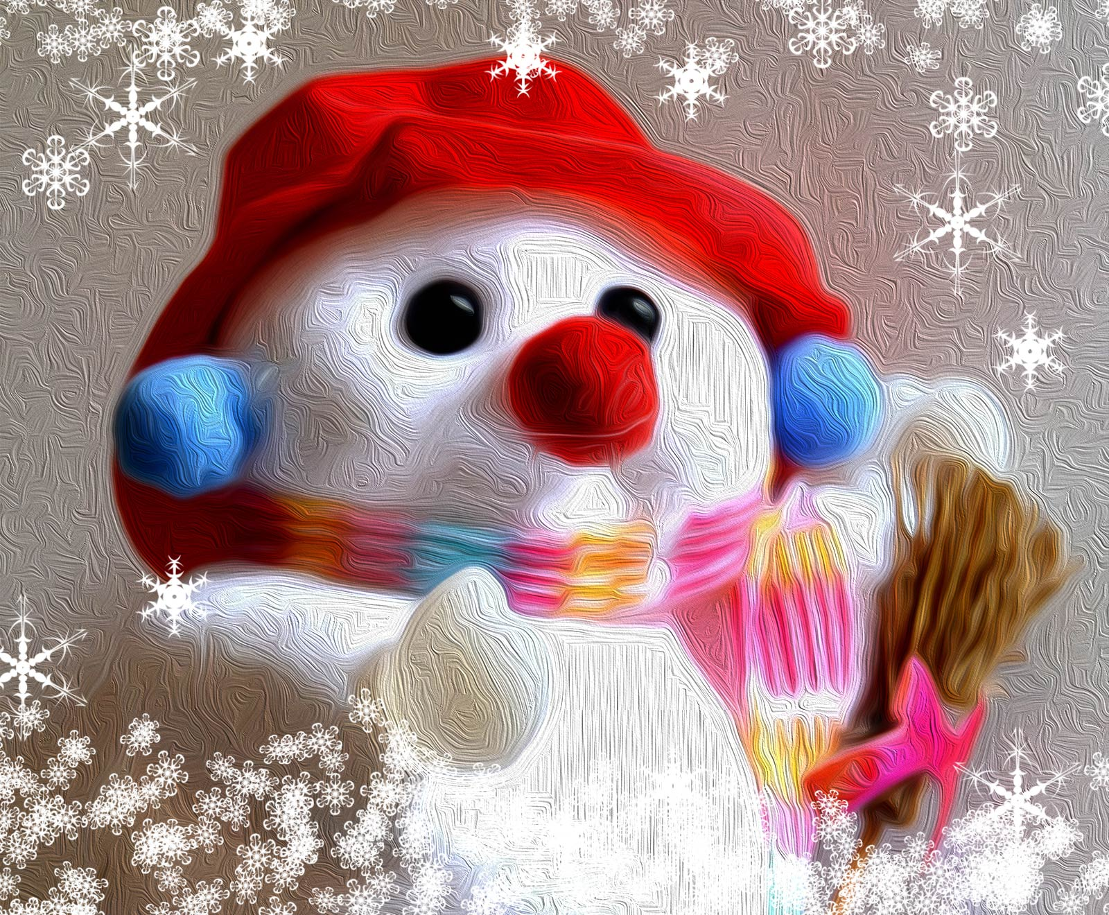 Ilustración gratis - Pequeño muñeco de nieve