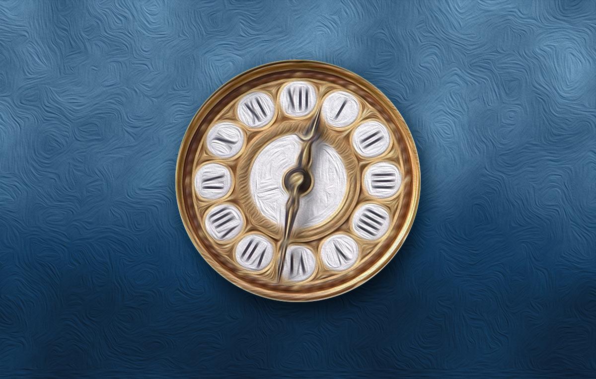 Ilustración gratis - El reloj de pared