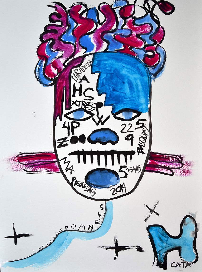 Ilustración gratis - El africano azul