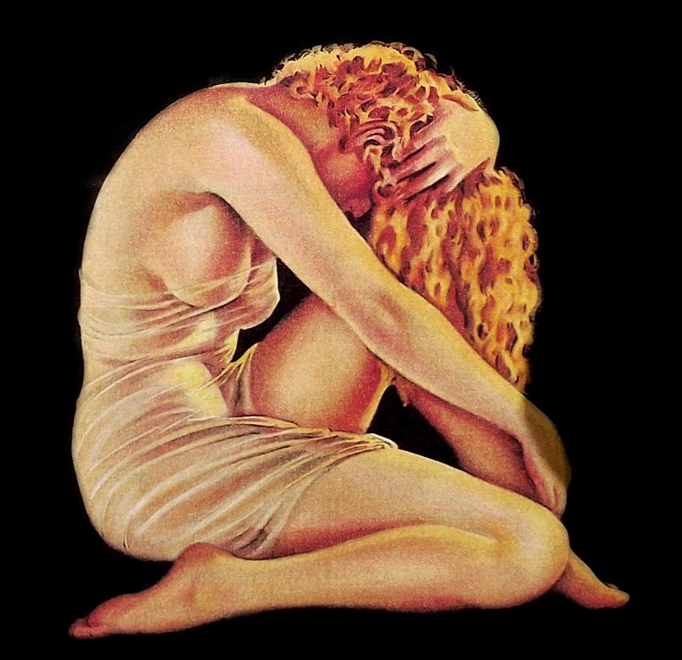 Ilustración gratis - Tristeza de mujer