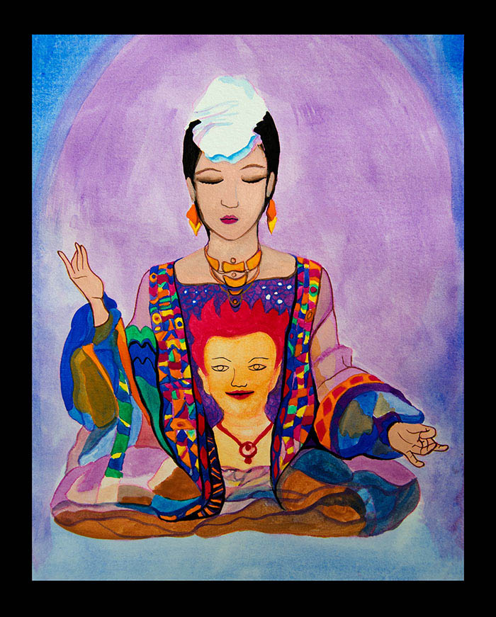 Ilustración gratis - Meditación china