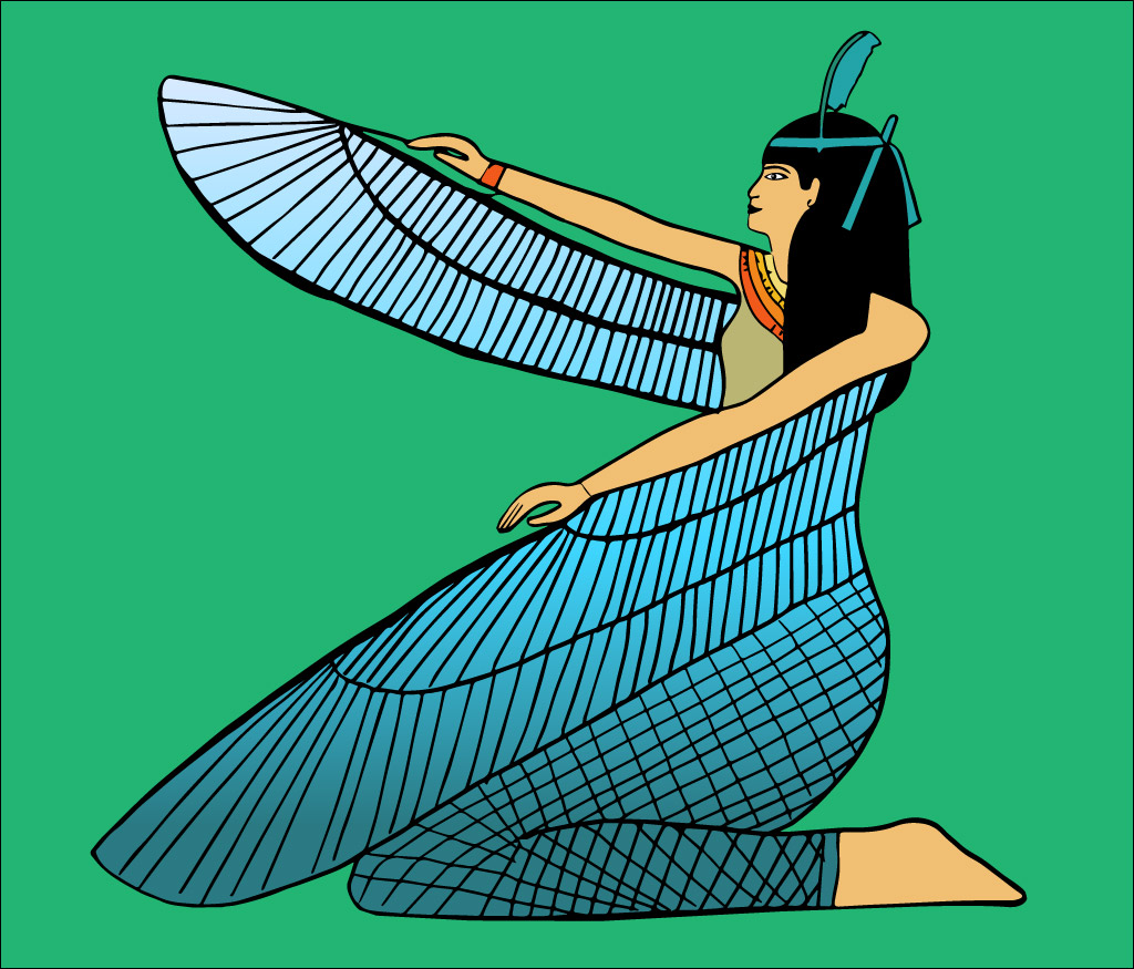 Ilustración gratis - Diosa Isis con alas