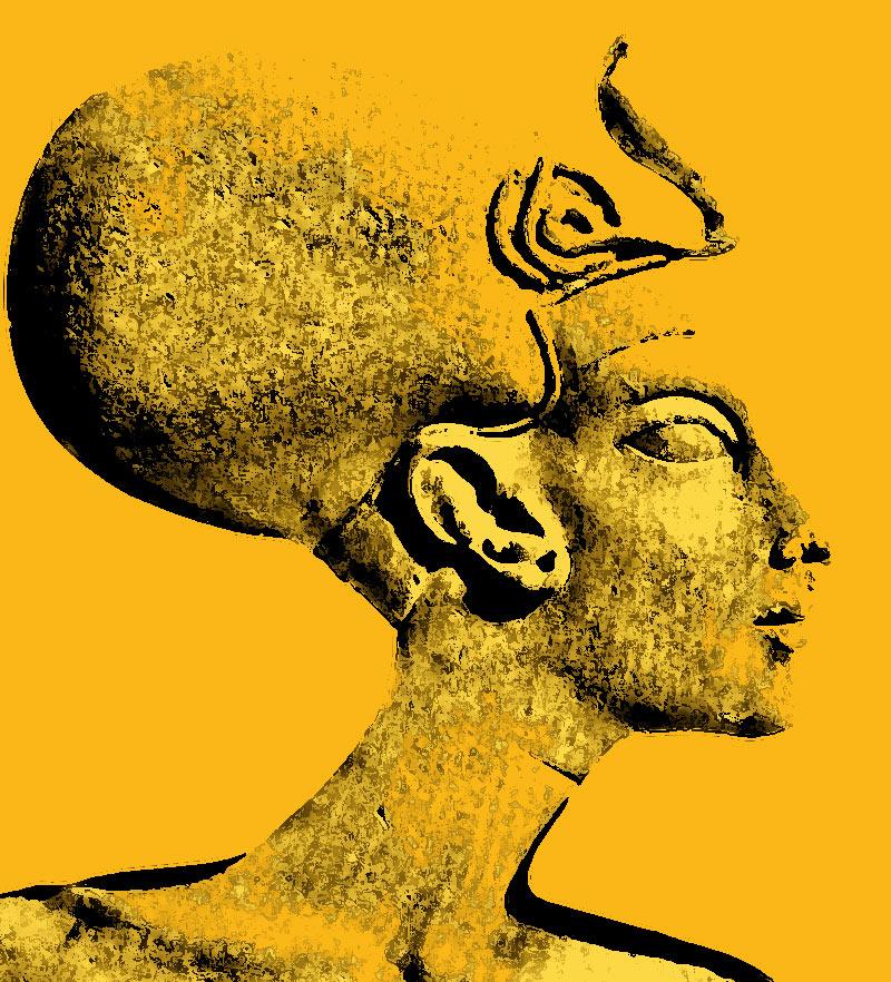 Ilustración gratis - Busto de Nefertiti