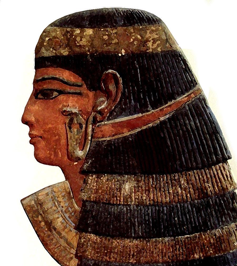 Ilustración gratis - Arte Egipcio - La reina de los muertos