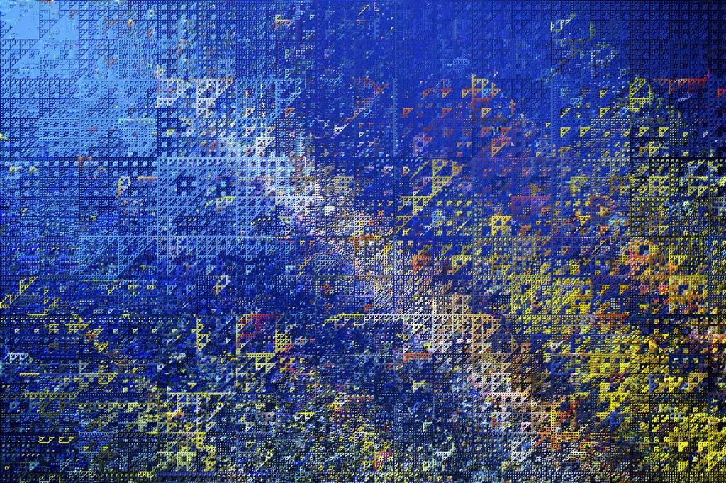 Textura con formas geométricas - Filtros Sierpenski Mirror