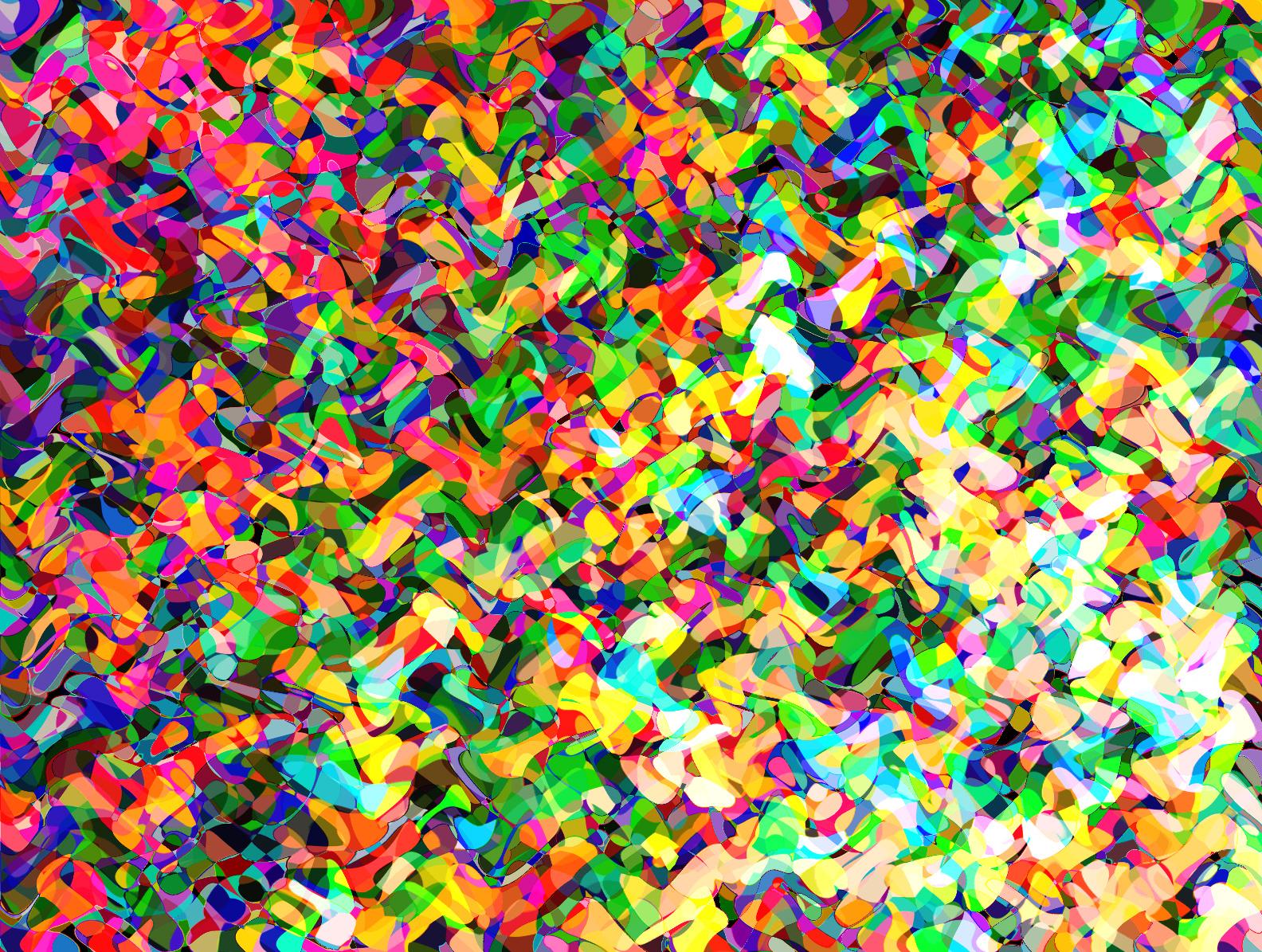 Psicodelia de colores y y formas onduladas
