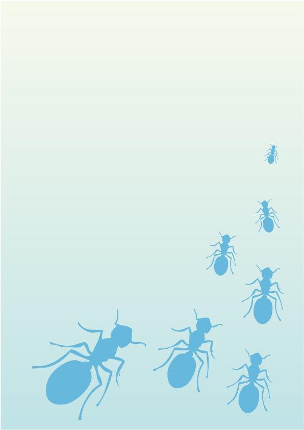Ilustración gratis - Diseño de un fondo con hormigas