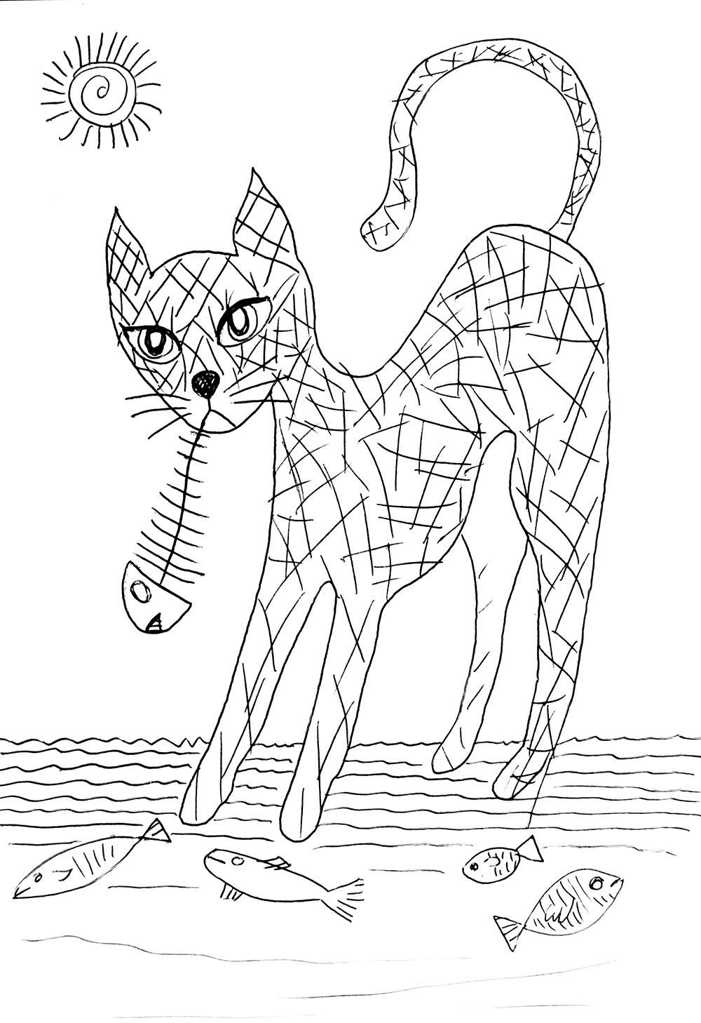 Ilustración gratis - El gato espabilao