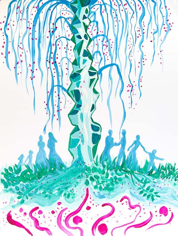 Ilustración gratis - El árbol de la sociabilidad