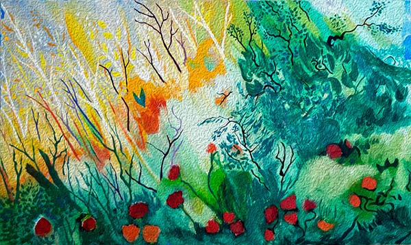 Ilustración gratis - Naturaleza, campo y flores