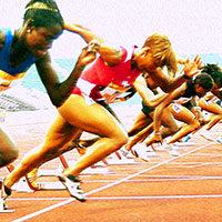 Carrera de velocidad femenina
