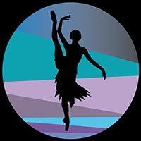 Bailarina con pierna levantada