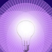 Ilustraciones bombillas con efecto de  luces