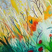 Pintura de la naturaleza o campo salvaje