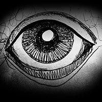 Dibujo de un ojo oscuro