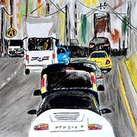 Atasco de tráfico y coches