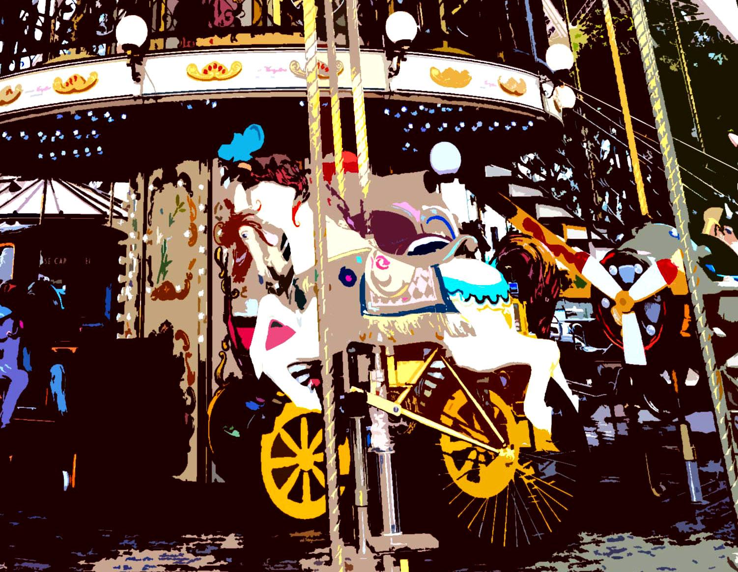 Ilustración gratis - Carrousel de París - Torre Eiffel