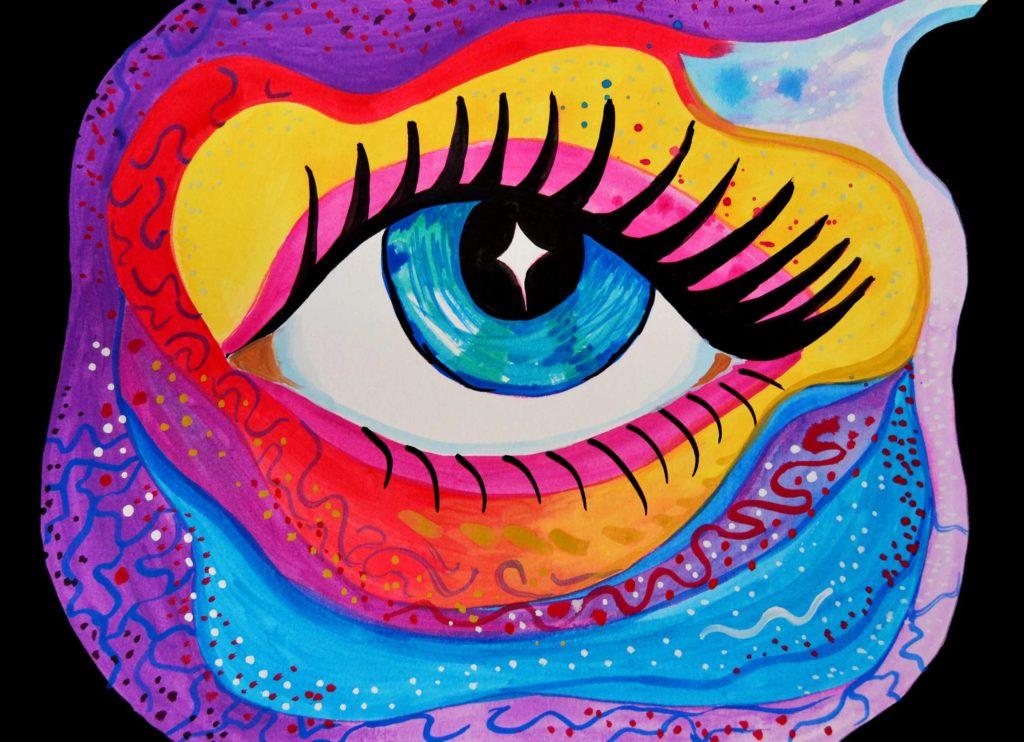 gran ojo ilustración colores vivos