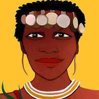 Mujer africana con verduras