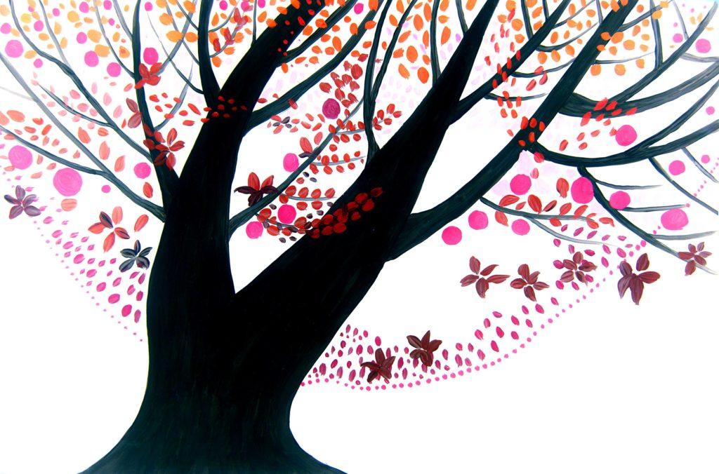 Ilustración artística Árbol del día