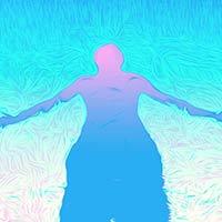 La resiliencia del ser humano, ilustración pintura digital