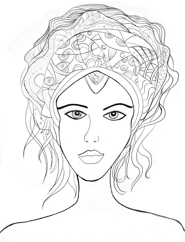 Dibujo con lápiz  Mujer de Venus
