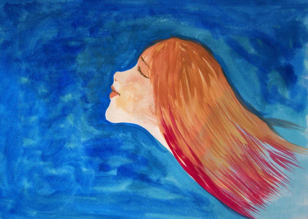 agua mujer dibujo ilustracion