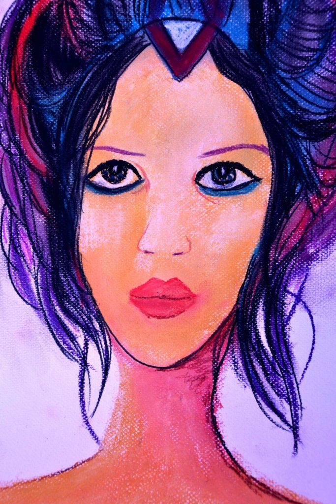 mujer sensual pintura